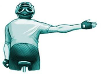 Señal giro a la derecha alternativo. Accidentes en bicicleta, Triviño Abogados.